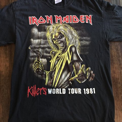 4473ad46d9 Vintage iron maiden band tee Good condition pm me if you - Depop
