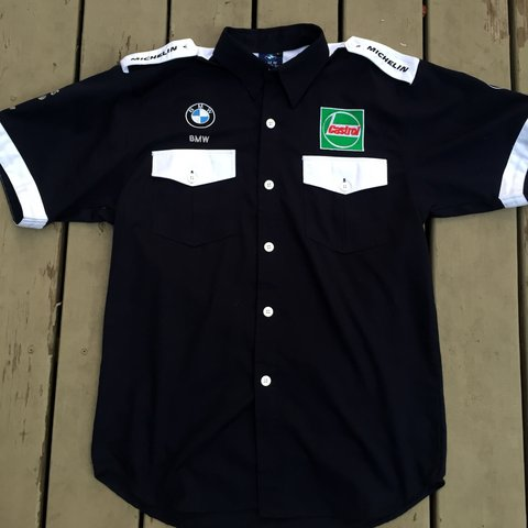 e172c33b @vintagefeed. last year. Andover, United States. Vintage BMW F1 Racing Team  Button Up Shirt
