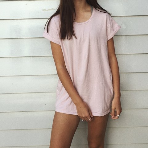 750ffb1ec911 Pale pink oversized T-shirt dress. Originally purchased from - Depop