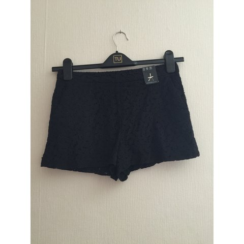 Black Lace Crochet Shorts Size 8 From Primark New With They Depop
