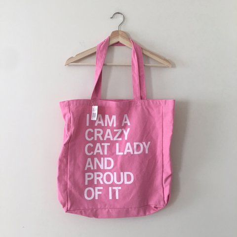 e447c6c13c @shelbyleeguest. 9 days ago. Richmond, United States. Crazy Cat lady oversized  tote bag!