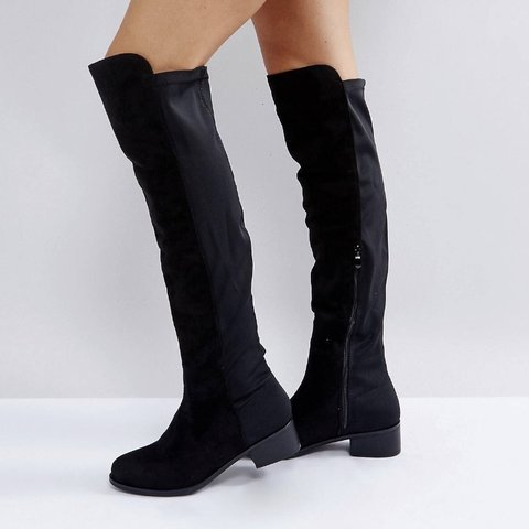 a1a538c4430 TRUFFLE Collection Elastic Flat Over the Knee Boots new