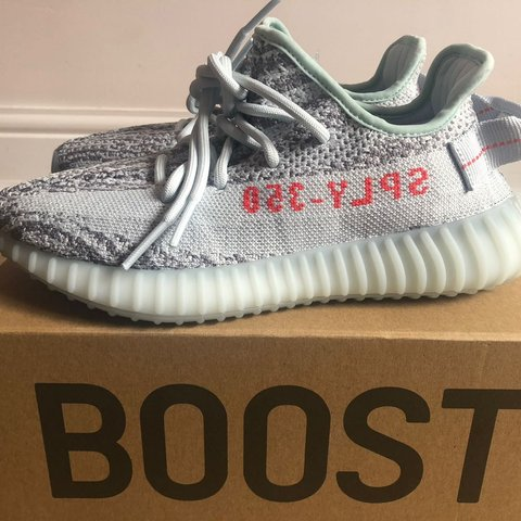 f084edd22b1a9 Adidas Yeezy boost 350 Blue tint v2 brand new with box and 5 - Depop