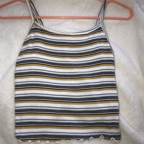 bb7be332420eb3 @brybrya04. 6 months ago. Eastvale, United States. FOREVER 21 STRIPED TANK  TOP MUSTARD WHITE GREY AND BLACK STRIPES SIZE MEDIUM, FITS A SMALL TOO