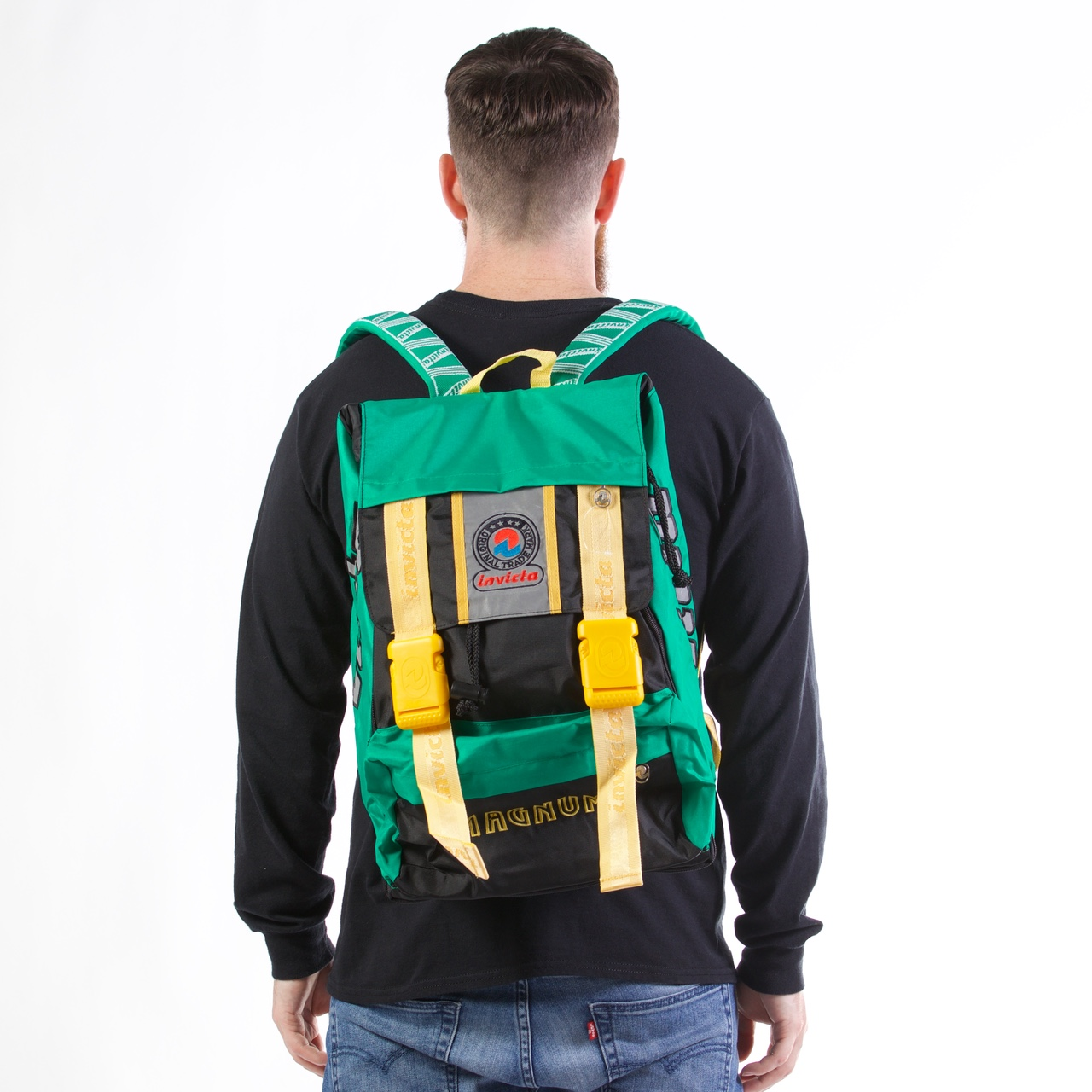 buy best cute exceptional range of styles and colors Vintage Invicta backpack. This is a dead stock item... - Depop