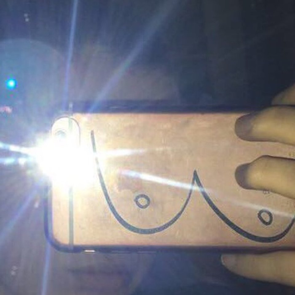 the best attitude d2e4e 26642 Phone case Urban outfitters Boob case Fits iPhone... - Depop