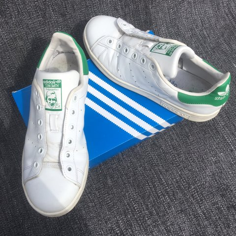 Adidas Stan Smith Trainers Core White Green Good condition 9ea372b13