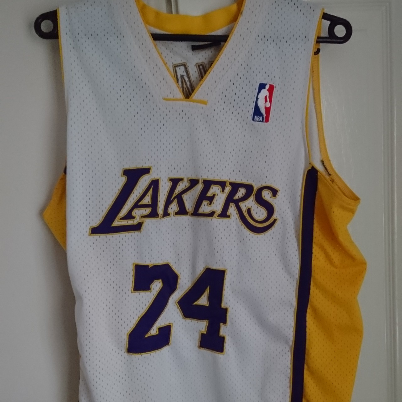 sports shoes f1dbe 27d2e LA Lakers basketball vest. White and yellow Jersey.... - Depop