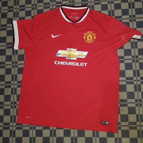bf44099dba3 Authentic Nike Manchester United Men s Football Shirt. Red 2 - Depop