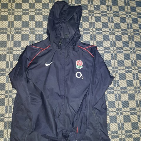 1b574bfb6e12 Nike England Rugby coat. Waterproof jacket. Men s zip up 02 - Depop