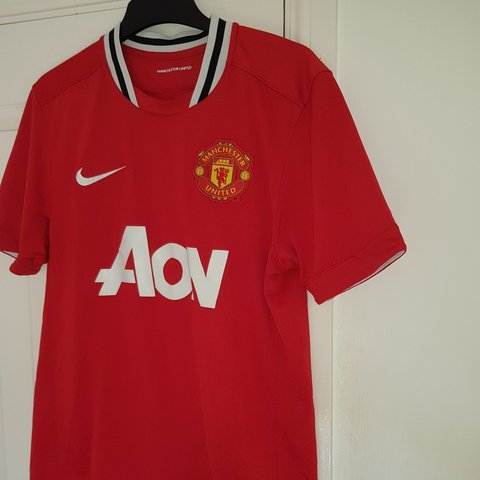 43d79c505df Manchester United football shirt Authentic Nike Red Home - Depop