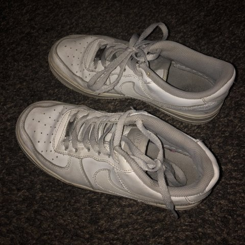 1b61d157698f24 White Nike Air Force 1s Pretty worn out and dirty but still - Depop