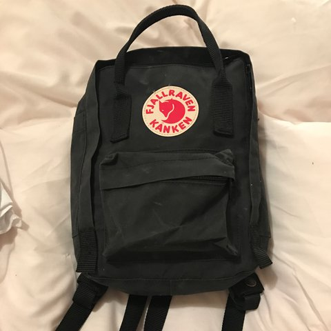 f0d32faa4 Fjallraven Kanken classic mini black backpack for sale! Good - Depop