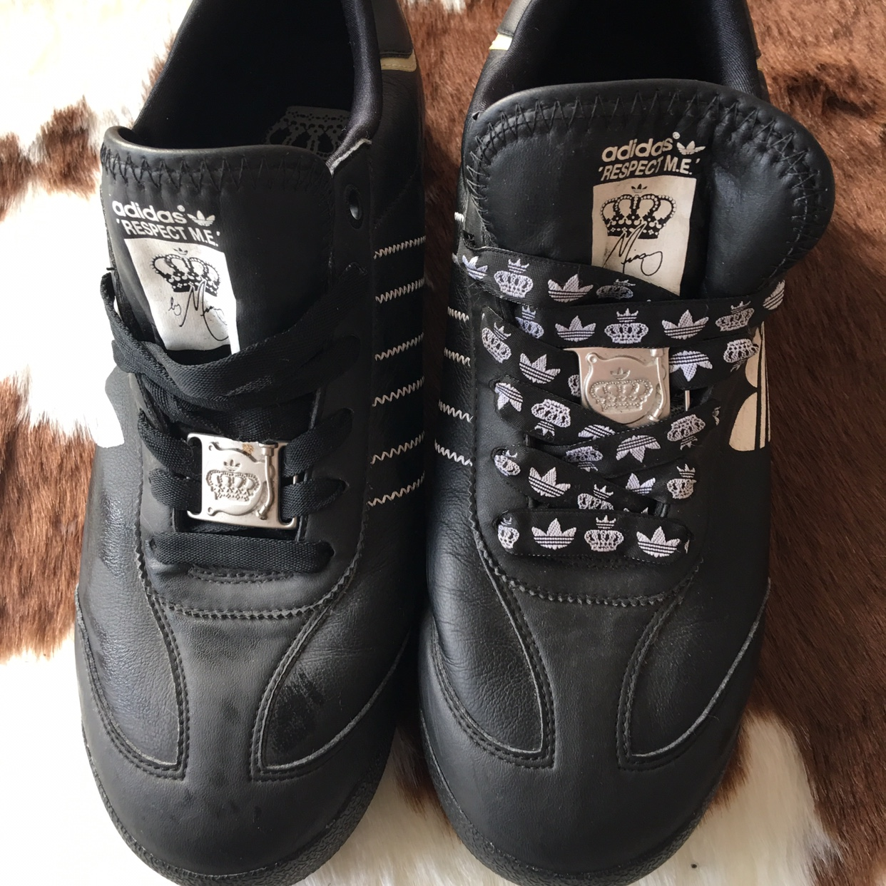 ADIDAS MISSY ELLIOT RESPECT ME LEATHER TRAINERS CASUAL SHOES