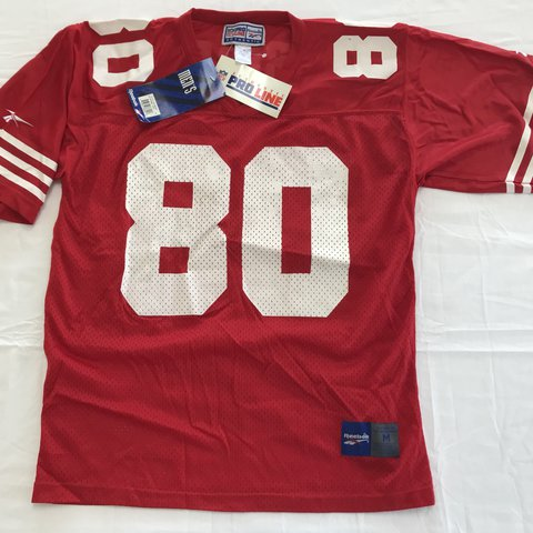 c6fc61350 New with tags Jerry Rice San Francisco 49ers Jersey. Size / - Depop