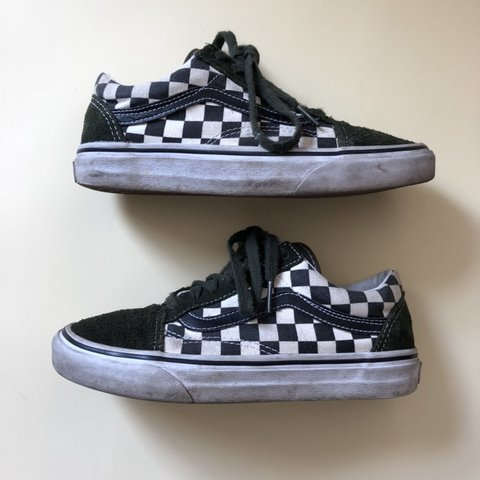 7a063d7548263 @denelic. yesterday. New York, United States. Vans checkerboard lace ups in  dark green suede and black and white checkers