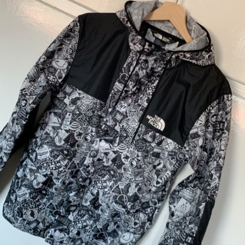 c9dadbe3e The North Face 1985 Mountain Fly Sticker Jacket In... - Depop