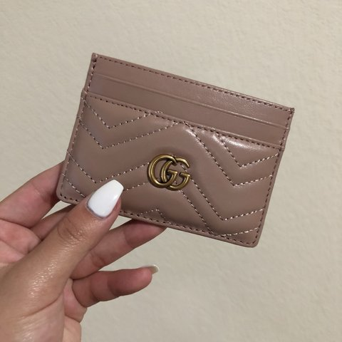 a47c8ac5b81a @bvlkari. 15 days ago. Houston, United States. BRAND NEW Gucci gg Marmont  Nude card holder. Never used!