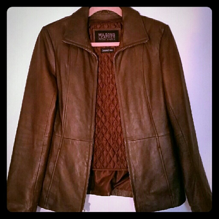 3fe787208 Wilson Leather Pelle Studio Jacket Brown Wilson... - Depop