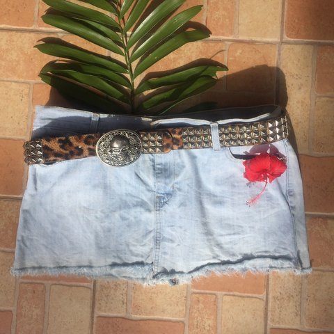 87d73bb067 @pink_ghoulina. in 12 hours. United States. Vintage 90's Distressed Old  Navy denim mini skirt ...