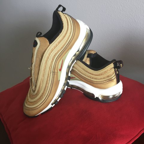 c1134d1307 Pre owned Nike Air Max 97 (no shoe laces) Metallic Gold red - Depop