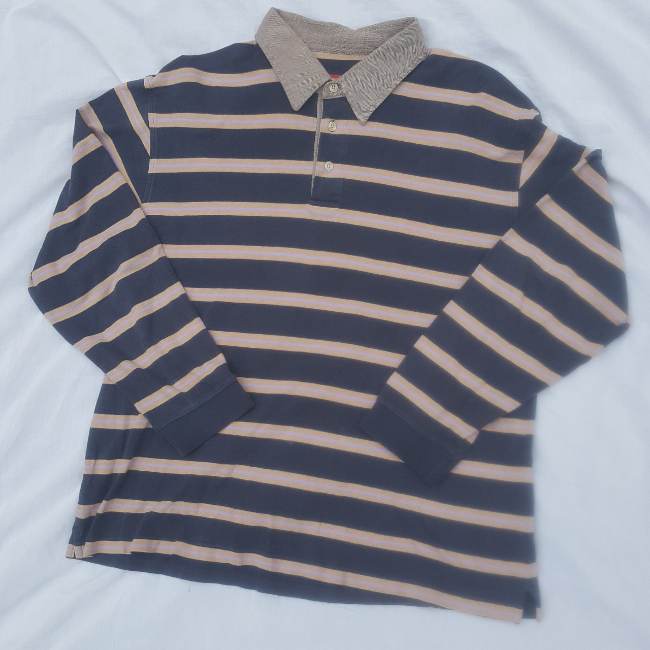 Vintage Austin Reed Long Sleeve Polo With Emblisshed Depop