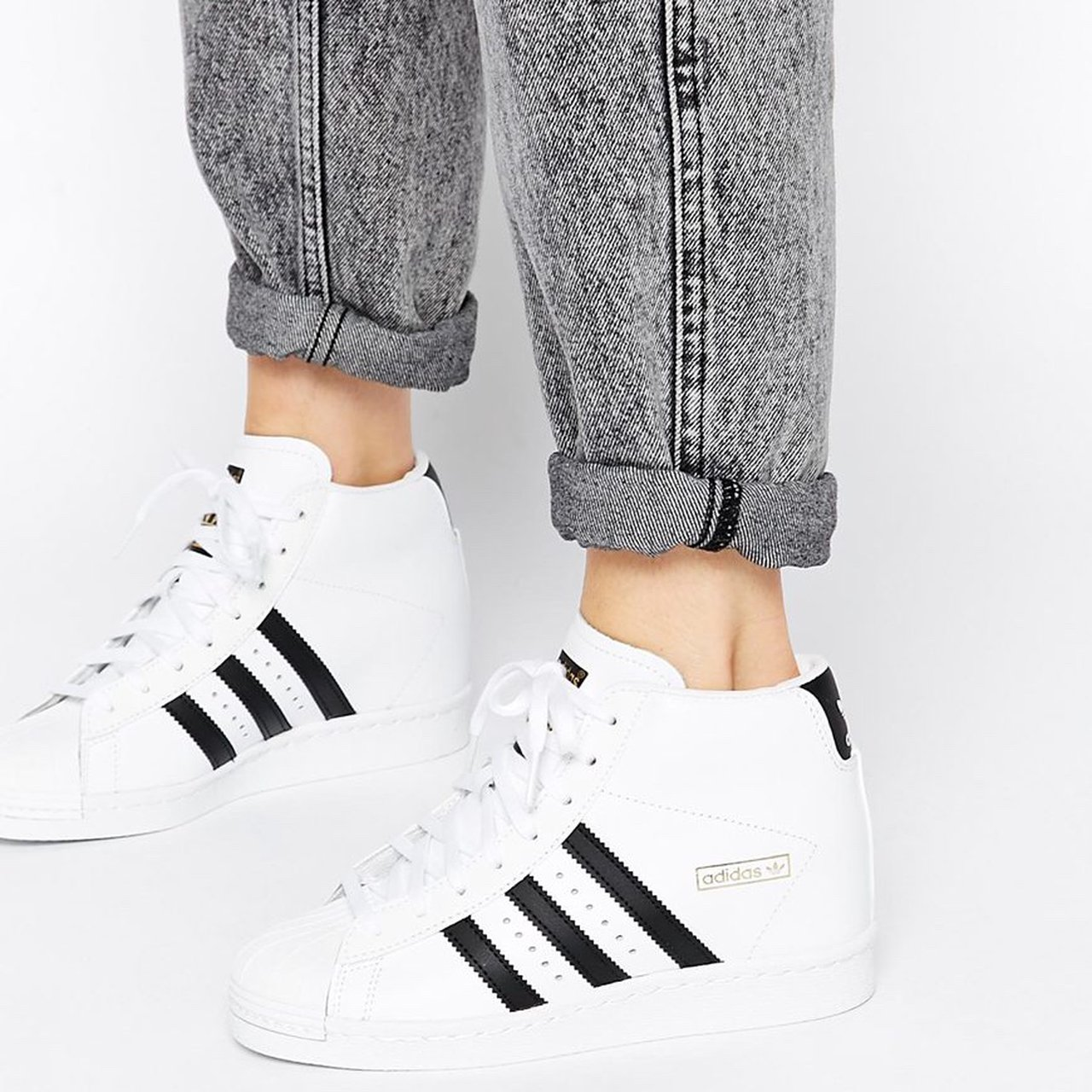 049260c5fb1 Adidas Superstar Up Wedge Sneakers Brand new Adidas Up with - Depop