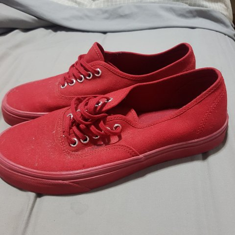 527ba886b854 Brand new all red vans .never worn bought to big . bought - Depop