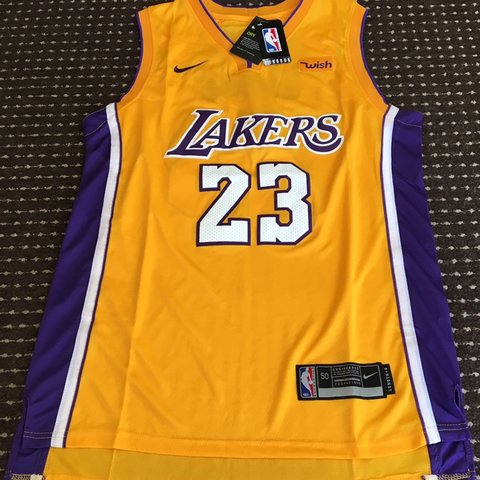 1f00907575e Lakers yellow 💛 jersey 23 lebron James Brand new w tags in - Depop