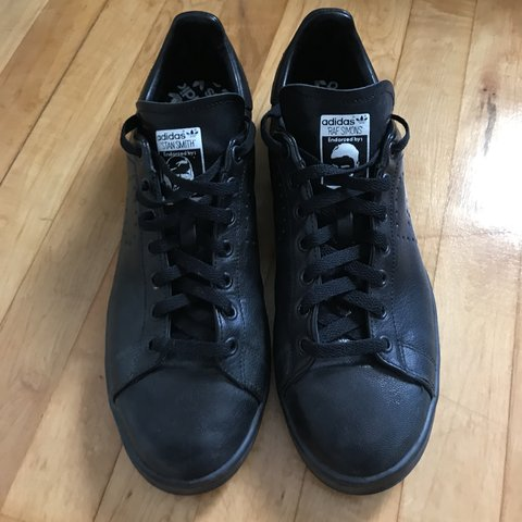 869d286a4 Adidas Raf Simons Stan Smith All Black Sneakers Size  11.5 - Depop