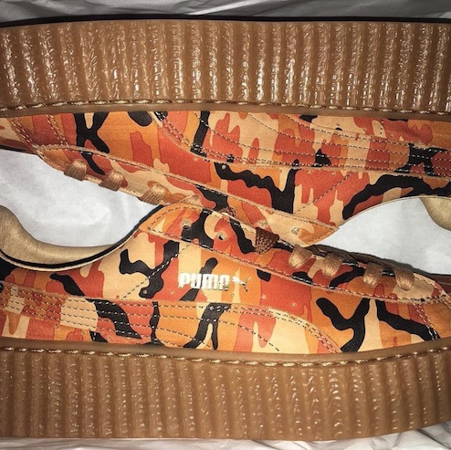 separation shoes 29a86 c4dde Rihanna Fenty Puma Creepers in orange camo, new with ...