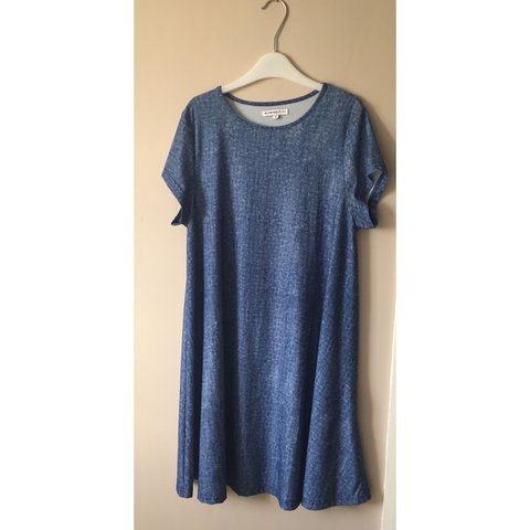 1decc2128fbe Glamorous at Topshop blue swing dress. Size 12 from the tall - Depop