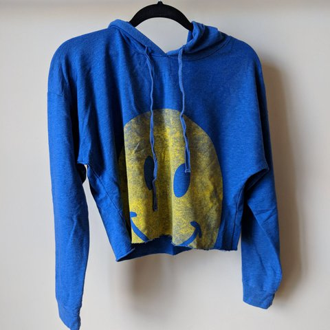 efccc775 Happy face sad face sweater walmart vibes true blue. Can fit - Depop