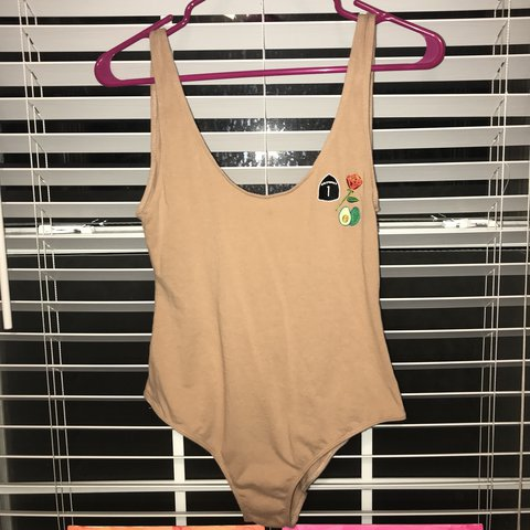 11cf365bf0 LA hearts tan body suit from pacsun size small would fit as - Depop
