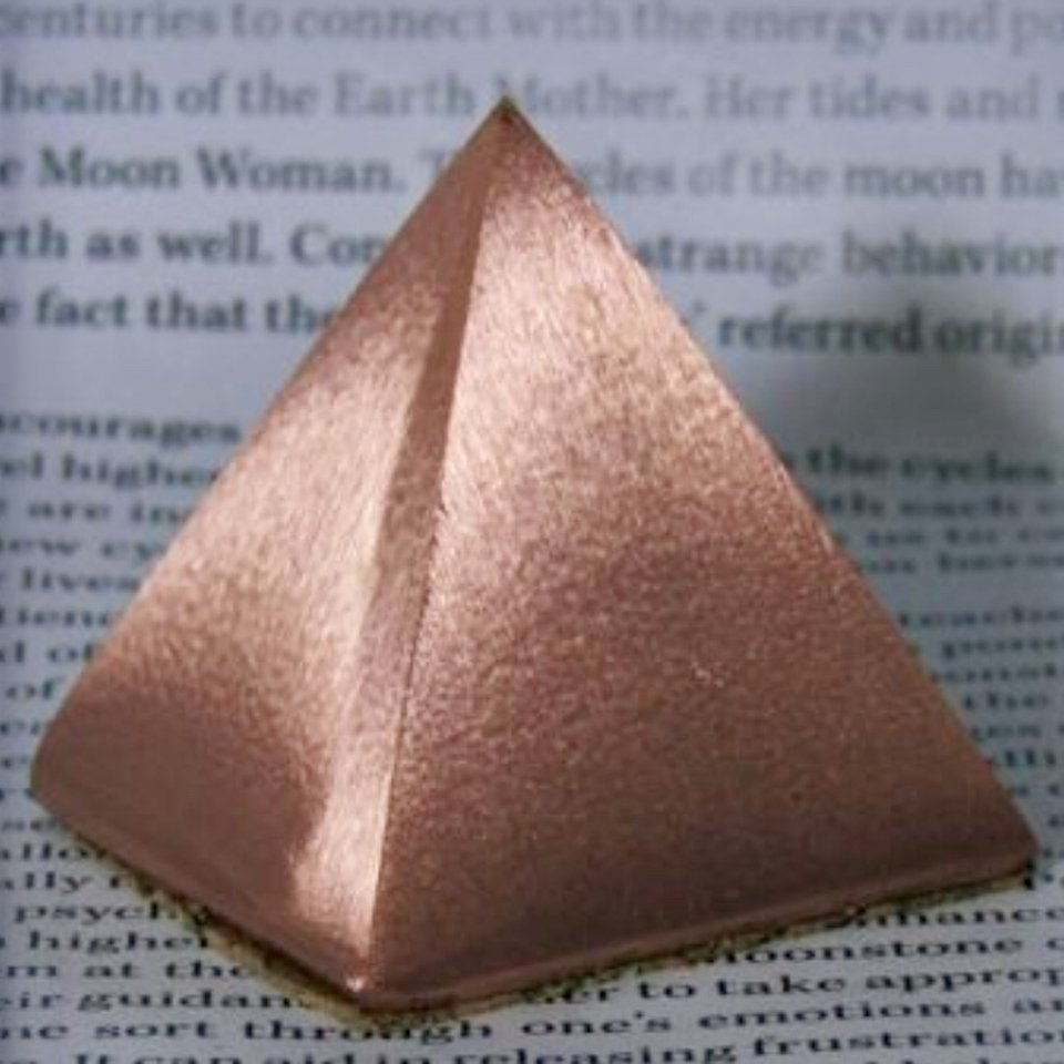 Raw, Solid Copper Pyramid—Nearly 1/2 Pound of solid    - Depop