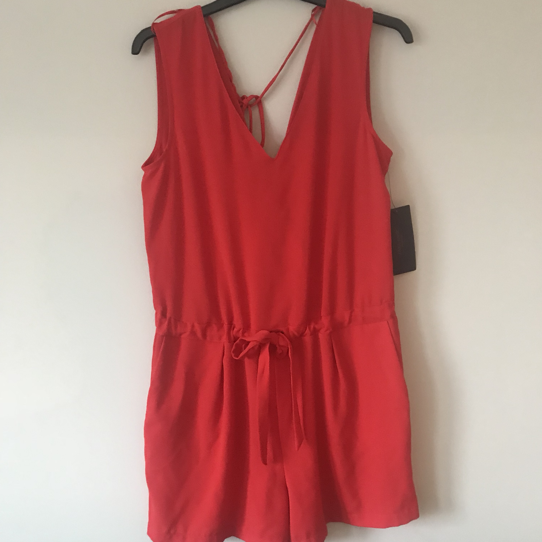 8eae7a071b2e Zara red tie waist backless playsuit perfect for holidays