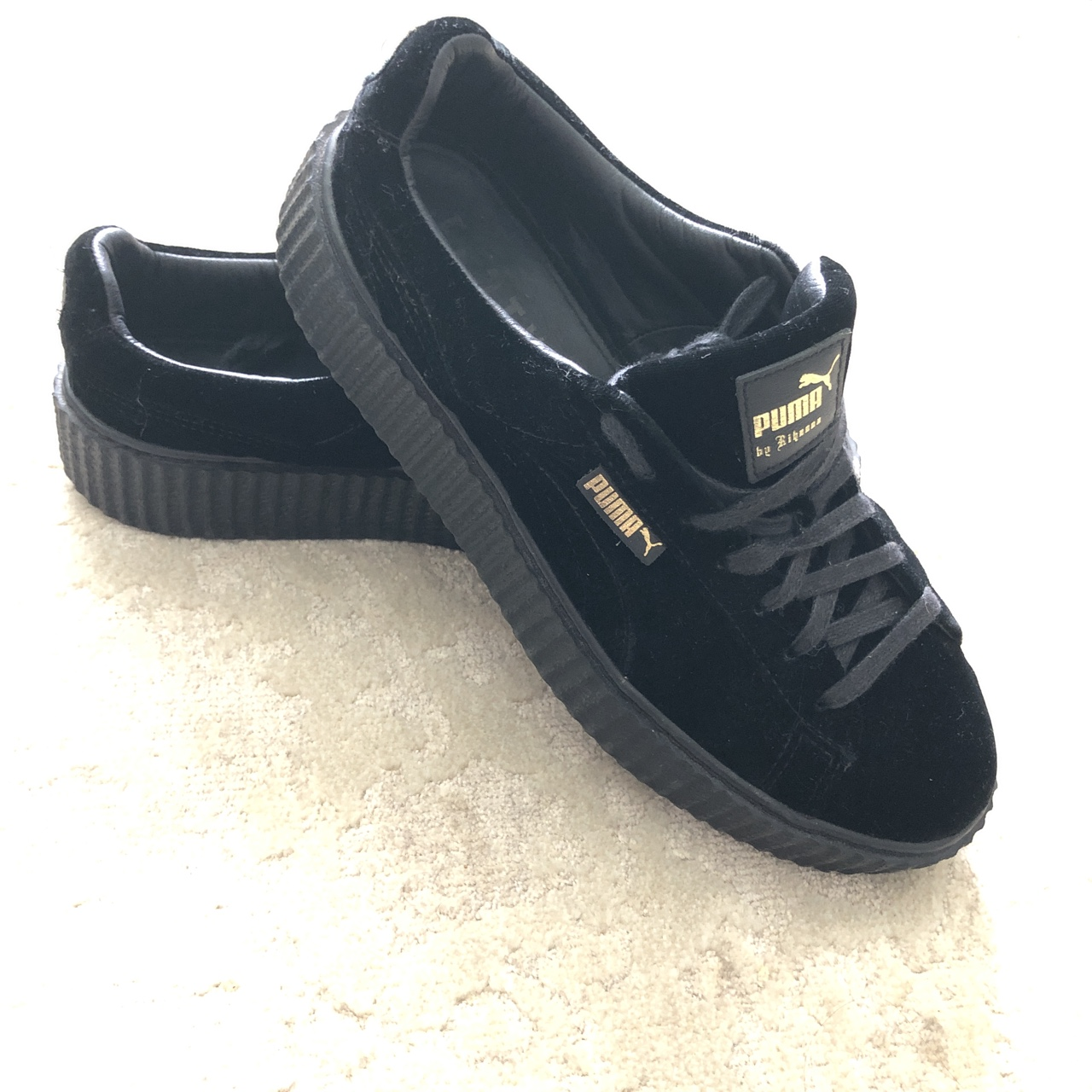 finest selection 66bcf 84d05 Fenty puma black velvet creepers women's size 12... - Depop