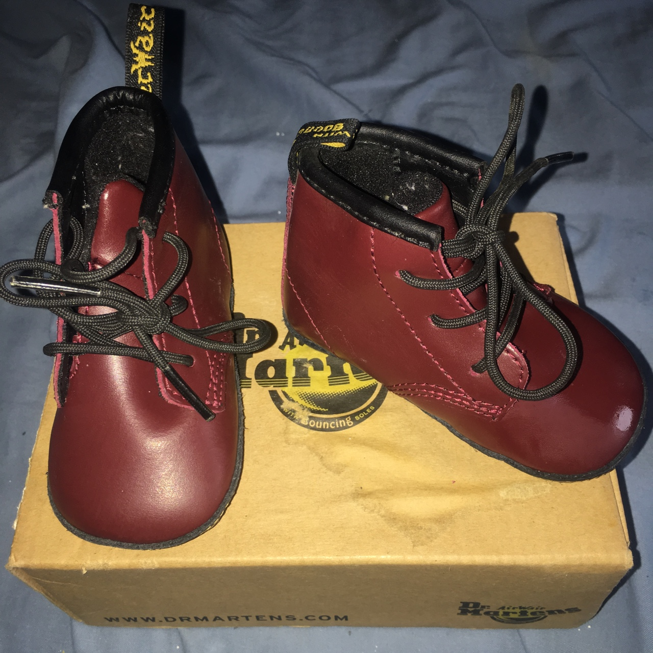 Kids Dr Martens Cherry Red Leather Crib