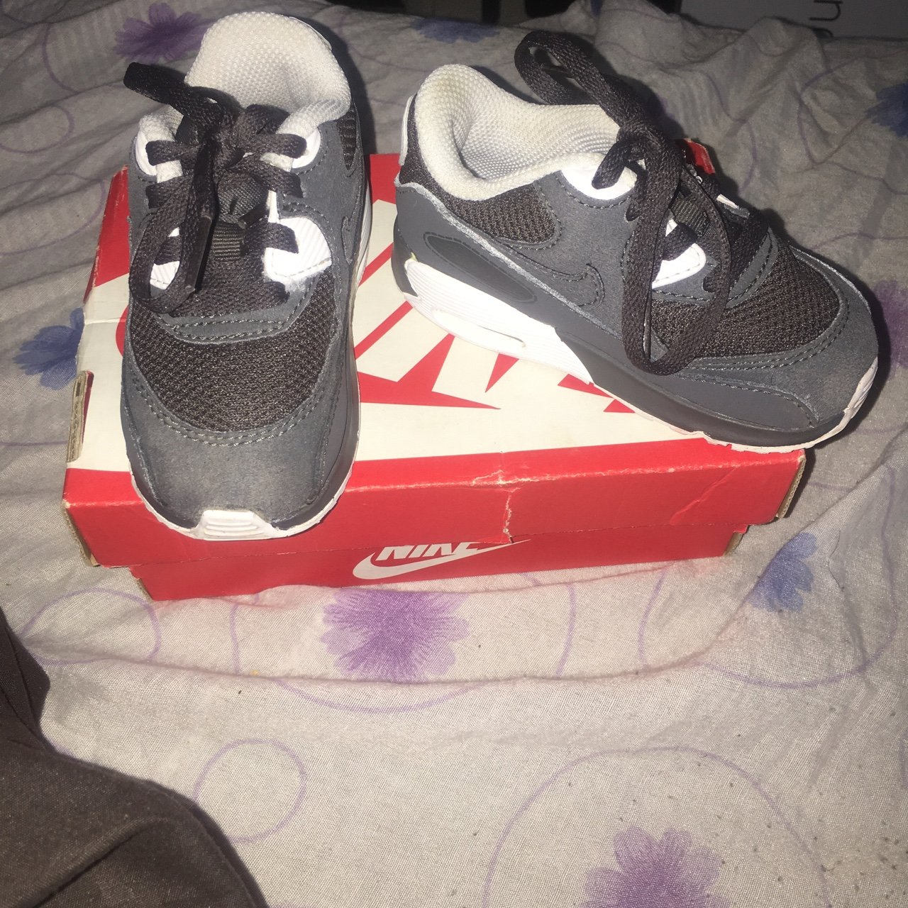 the latest d7da1 5ac4d  tinaesther. in 11 hours. Dagenham, United Kingdom. Kids Nike Air Max Dark  Grey Trainers