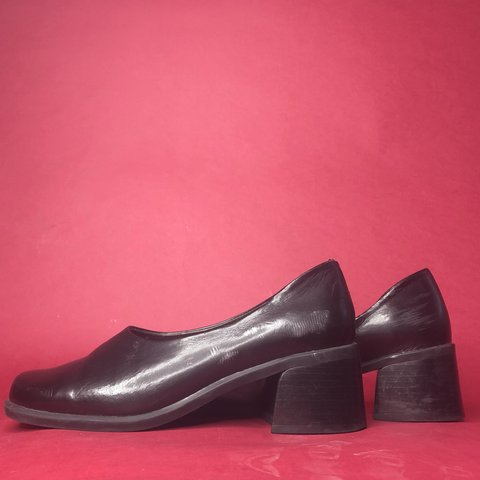1a2e72237ad Super chunky minimalist block heels from the 90s by unique a - Depop