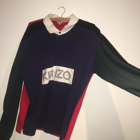 9750ab0e Kenzo rugby shirt Lovely top Size L 10/10 condition SEND BE - Depop