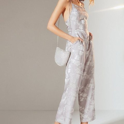 283dc9b6cc Gorgeous dusty muted lavender spaghetti strap jumpsuit with - Depop