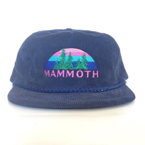 754ab81a061 vintage 1990 s  corduroy snapback from Mammoth Mountain in - Depop