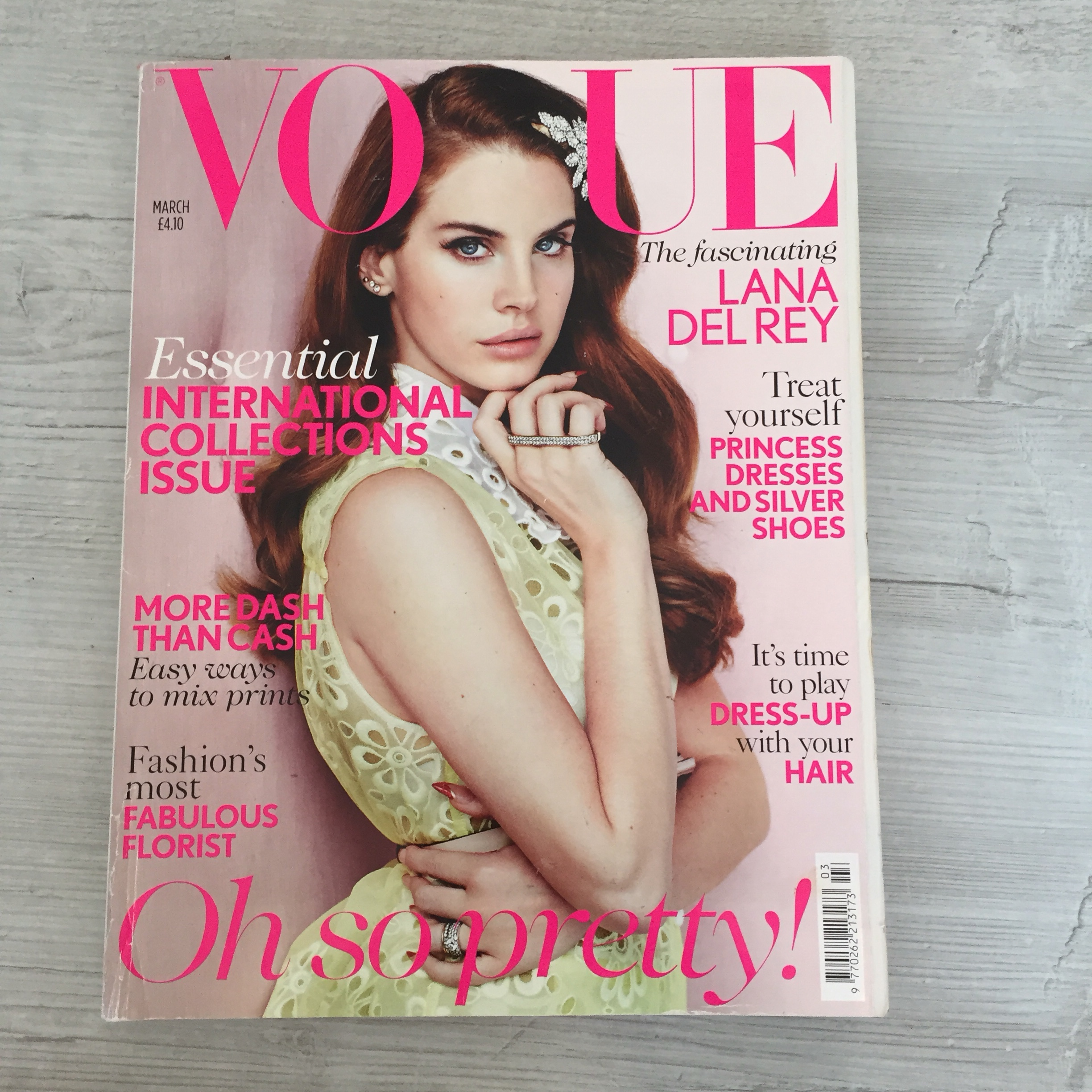Lana Del Rey Iconic Pink Vogue Cover Magazine From Depop