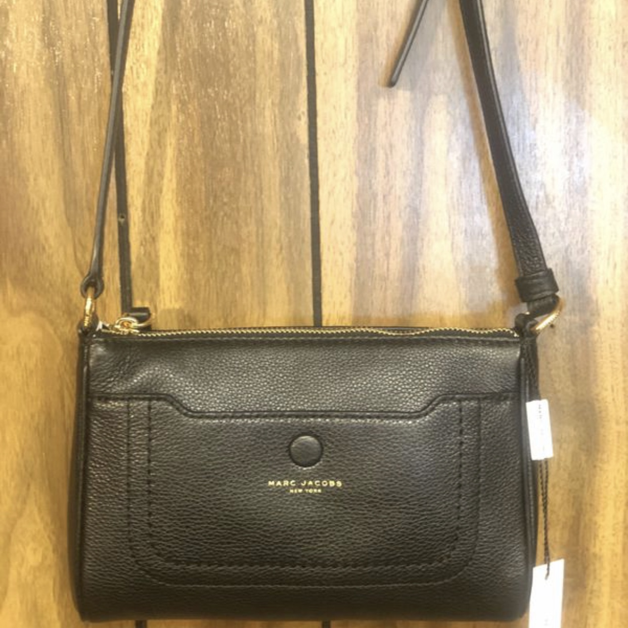 Buy Authentic sale usa online 60% clearance Marc Jacobs Empire City Leather Crossbody Bag... - Depop