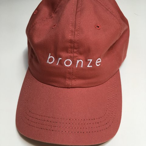 9be767a7fc851 Bronze 56k Coral Dad Cap New condition
