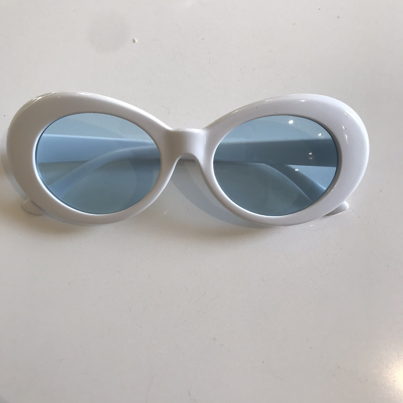 46143f6ff42 Brand New White Clout Goggles Kurt Cobain Style Also in - Depop