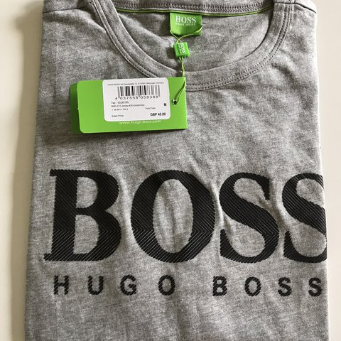 eedb4889a7 Grey Hugo Boss t-shirt Brand New with tags and 100% in S, - Depop
