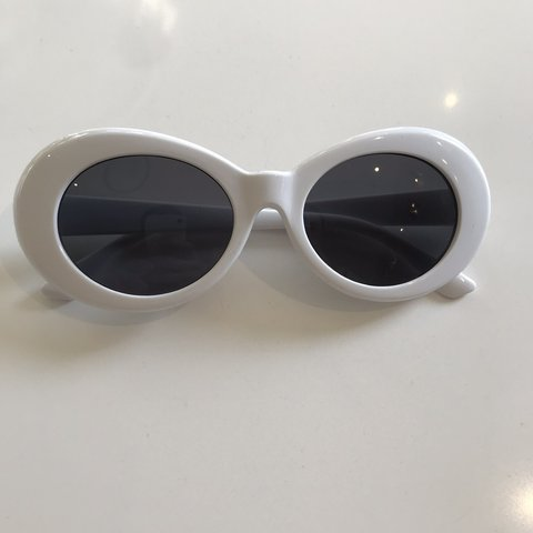 ca0620113e Brand New White Clout Goggles Kurt Cobain Style Perfect in - Depop