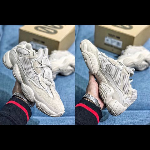 28955e4e3de1 Pair of Adidas Yeezy 500 blush for sale Won them in a n but - Depop